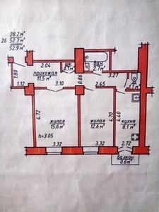2-комнатная Суворова, пешеходная улица, БАЛКОН, КИРПИЧ - Изображение #1, Объявление #1659833