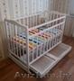 Кроватка кровать детская белая с ящиком